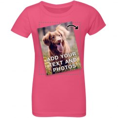 Custom Youth Princess Tee with Photos, Text and Clipart