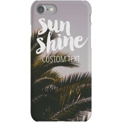 Custom Summer Sunshine iPhone Case