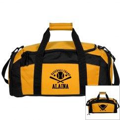 Alaina. Baseball bag