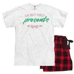 Presents first PJs