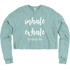 Inhale Exhale Custom Yoga Studio Yogi Crop