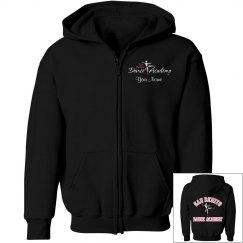 SBDA Youth sweatshirt - pink font, white outline