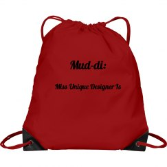 Hot Pink Mud-di Drawstring Bag