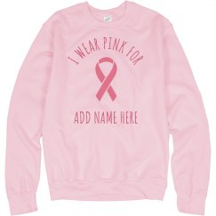 Custom Breast Cancer Sweatshirt