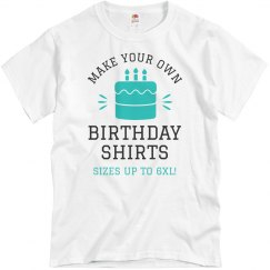 Make Your Own Birthday Shirts