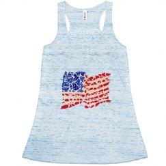 USA flag in hearts shirt