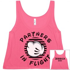 Matching Cheer Flight Partners Base Girl Crop