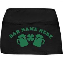 Irish Bar Server Apron St Pattys
