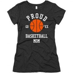 Proud Fan Basketball Mom