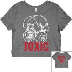 Gas Mask Toxic Crop Tee