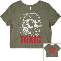 Gas Mask Toxic Crop Tee