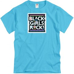 Aquatic blue tee w/bgrock graphic