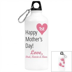 1st Mom's Day Water Bottle