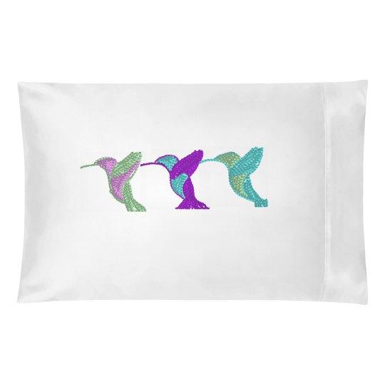 3 HummingBird Pillowcase