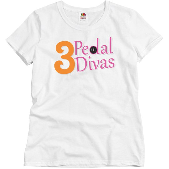 3 Pedal Divas Women's Relaxed Fit Tee
