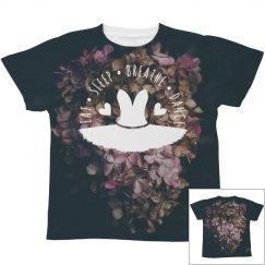 Eat Sleep Breath Floral Print Dance