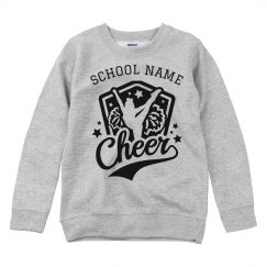 Cheer Custom School Kids Youth Sweatshirt