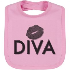 Diva Baby Girl Bib