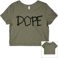 Grey Dope Crop Top
