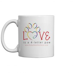 Love is a 4-letter paw Mug