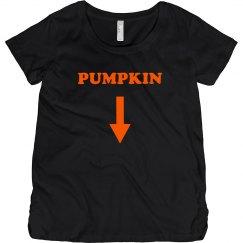 Pumpkin Maternity Shirt