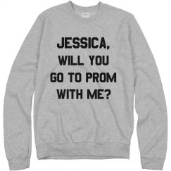 Customizable Name Promposal Sweatshirt