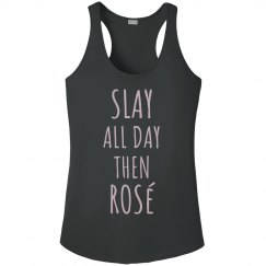 Rose Gold Metallic Slay then Rosé