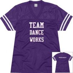 Team Dance Works football jersey
