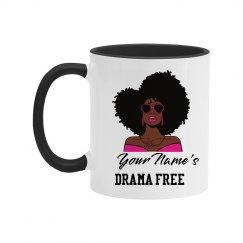 Personalized Drama Free African American Woman Mug