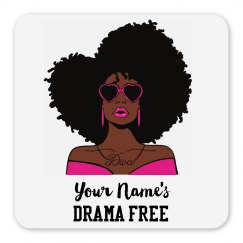 Personalized Drama Free African American Woman Magnet