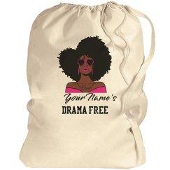 Personalized Drama Free Black Woman Laundry Bag