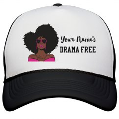 Personalized Drama Free African American Woman Cap