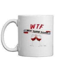 WTF Wine Tasting Friends coffee mug 11oz.