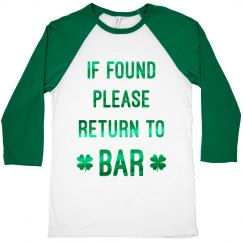 Return To Bar On St. Patrick's Day