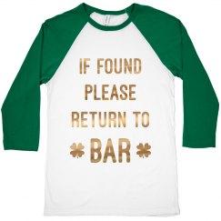 If Found On St. Patricks Bar Crawl
