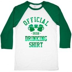 Official Irish Drinking Shirt