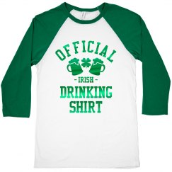 Official Irish Drinking Shirt