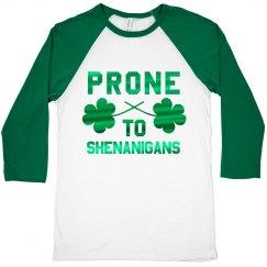 Metallic Irish Shenanigans Raglan