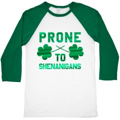 Metallic Irish Shenanigans Raglan