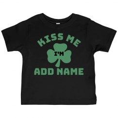 Custom Toddler Kiss Me Im Irish
