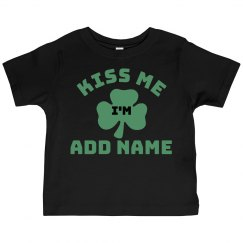 Custom Toddler Kiss Me Im Irish