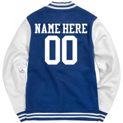 Field Hockey Girl Custom Varsity Jacket Name Number