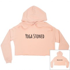 Yoga stoned cropped sweatshirt