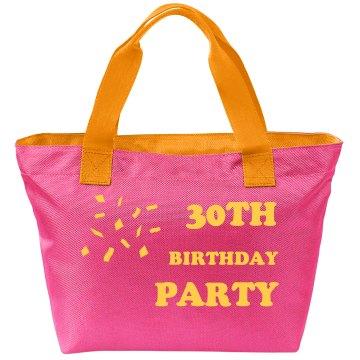 30TH Birthday Party Bag