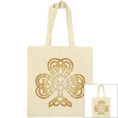 Golden Shining Celtic Shamrock
