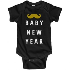 Mustache Baby New Year