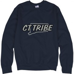 CT Tribe  state crewneck  (Navy)
