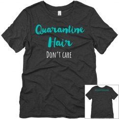 Quarantine hair tee gray
