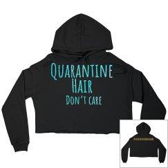 Quarantine hair hoodie black