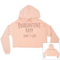Quarantine hair hoodie peach